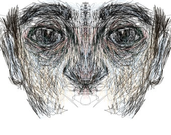 continuous line facial study