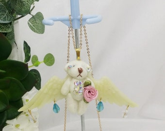 angel bear necklace