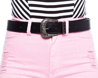 western old buckle basic trending belt