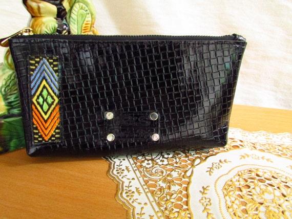 black women wallet, Black leather wallet, mini pouches, leather pouches, women clautch