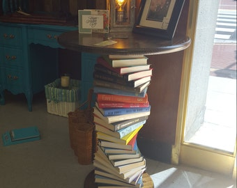 Book End Table, Wooden Book End Table, Favorite Book End Table