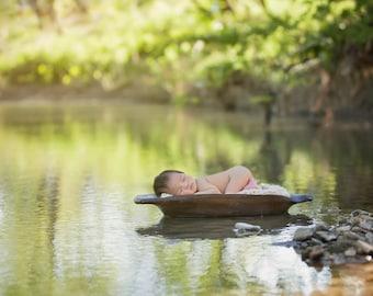 Newborn Photography digital drop prop background (Outdoor creek)