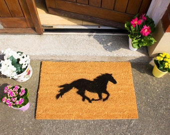 Galloping horse doormat - 60x40cm