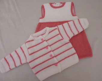 All dress and jacket pink and white 3 months