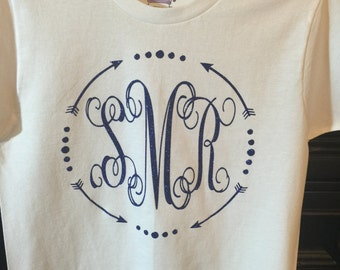 monogram shirt circle arrows