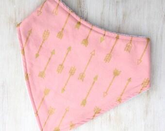 Dribble Bib - Pink Arrows