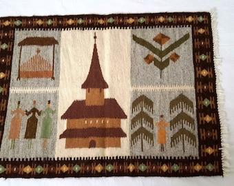 unique handwoven wood mats/rugs