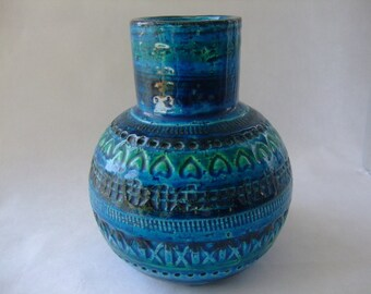 Bitossi:  Vintage Italian Vase Rimini Blue by Aldo Londi