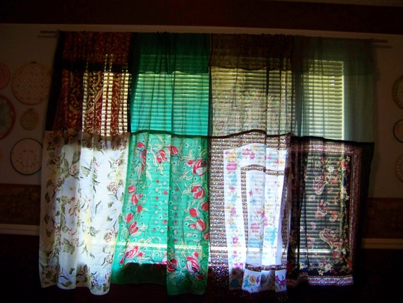 Upcycled Scarf Curtains