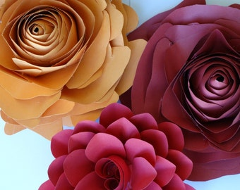 Paper Flowers Paper Flower Wall Paper Flower Decorations Paper Flower Wedding