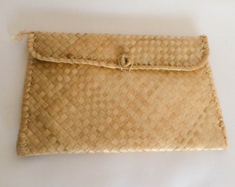 1950s Style Woven Clutch Vintage