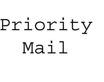 Priority Mail upgrade add to your shopping cart.