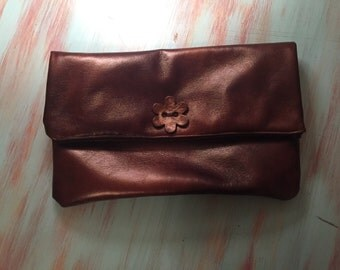 Handmade Fold-Over Zippered Clutch