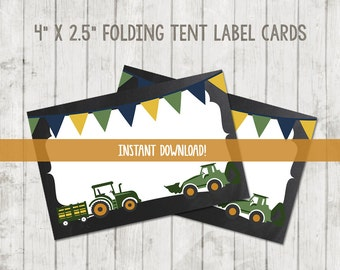 Printable Food Tent Labels. Printable Tractor Food Labels. Tractor Party. Tractor Food Tent Cards. Tractor Birthday. Tractor Party Favors