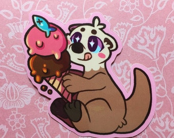 Sea Otter - Vinyl Sticker