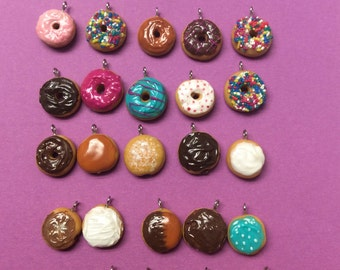 Donut charms or rings, Choose 4!