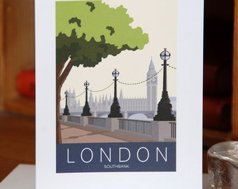 Greetings Card of London Southbank, Westminster (Card ID: WOS035)