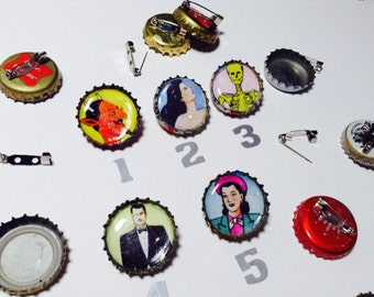 Loteria bottle cap pins & magnets