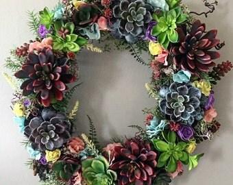 Succulent Garden Wreath