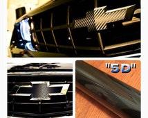 Chevy Bowtie Decal Sheet 3D 5D Carbon Fiber 3M Adhesive High Quality For Camaro Impala Tahoe Cruze Monte Carle Corvette Custom