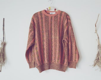 Oversized Sweater Ugly Salmon Swamp Knit Sweatshirt