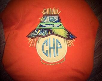 Monogrammed Scarecrow applique Shirt