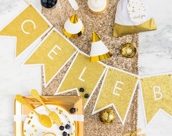 Adults Metallic Gold Party | Gold Party Supplies | Gold Party Decorations | Frosted Party Cups | Gold Favor Bags | Gold Banner | CRATED®