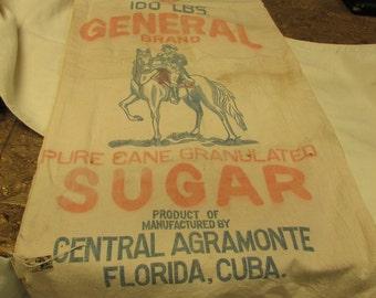 SALE!   Vintage General Sugar Sack