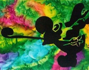 Yoshi & Baby Mario Canvas, Nintendo Art, Melted Crayon Art, Mario Canvas, Mario Art, Yoshi Art, Crayon Art, Canvas Art, Abstract Art Fan Art
