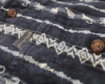 Vintage Woolrich Button Down Flyfishing Print