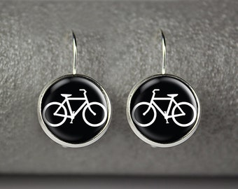 Bicycle earrings, bicycle jewelry, bicycle accessories