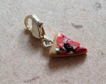 Charm Pizza, pizzas, miniature food as a pendant
