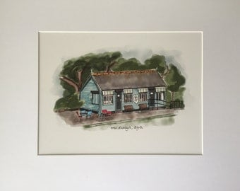 Mr Ridley's Coffee and Ice Cream Parlour, Blyth, Northumberland, mounted print