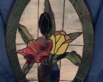 Beveled Stained glass panel