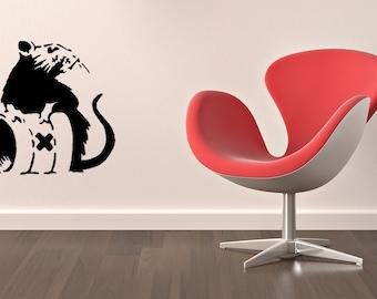 Banksy toxic rat vinyl Wall Art sticker decal graphics decor home