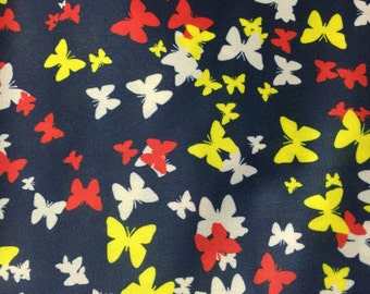 Bold Butterflies Print Eco PUL (PolyUrethane Laminate) Fabric - Waterproof - Environmentally Friendly - 1/2 Yard