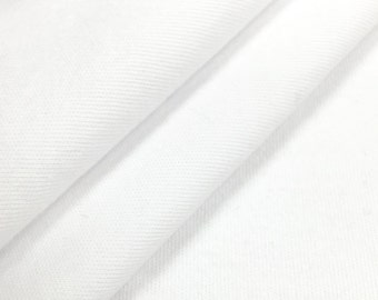 100% Supima Cotton Interlock Knit Fabric (Wholesale Price Available By the Bolt) USA Made Premium Quality - 2436SU White - 1 Yard