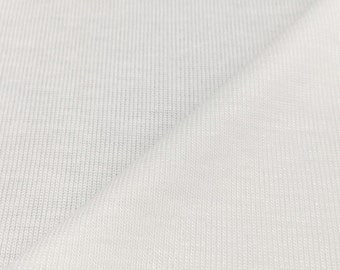 100% Bamboo 1x1 Rib Knit Fabric (Wholesale Price Available By the Bolt) - 4000BM1- PFD OPTIC - USA Made Premium Quality - 1 Yard