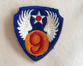 Vintage Air Force Patch 9th Air Force