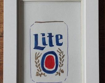 Miller Lite Can Art