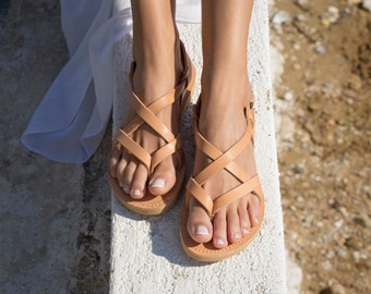 Sandals,Greek sandals,Leather sandals,Full Strappy sandals,Handmade sandals,Women sandals,Women shoes,GAIA,
