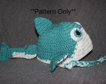 Whale Shark Amigurumi : Seal Crocheted Hat with Earflaps by JuneBugsCrochets on Etsy
