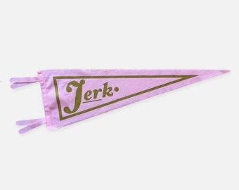 Jerk Pink Wool & Gold Shimmer Ink Oxford Pennant