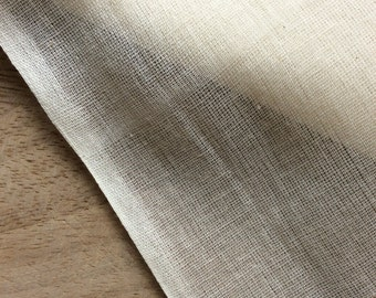 Organic Muslin Cotton Fabric, Fair Trade,  Natural Cream for Crafting and Sewing