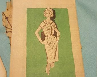 1960 Printed Pattern Size 14 #4573