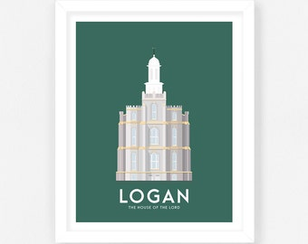 Logan LDS Temple Print || Wedding Gift || Anniversary Gift || Christmas Gift
