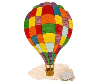 Kids bedrooms Balloon coat colored squares