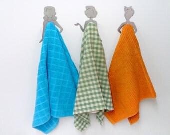 Designed hand towel hanger