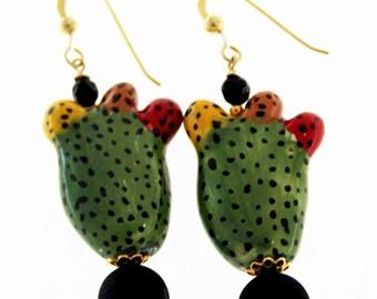 Prickly pear Line earrings