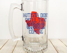 Don't Mess With Odor Large Texas Rangers Beer Mug Fathers birthday Gift